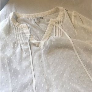 Elle Sheer White top size S